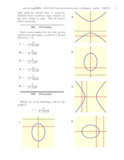 LM 10.6- Conic sections in polar coordinates-problems