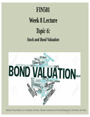 Lecture Week 8 - Topic 6