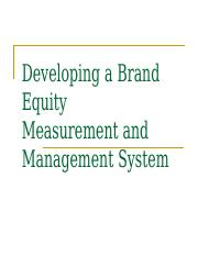 8 BE Measurement and management Sy