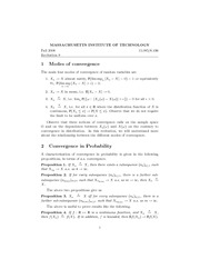 Modes of convergence, Convergence in Probability and Distribution notes