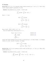 Continuous Random Variable Exercises