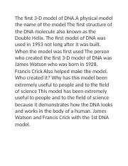 The first DNA model.docx