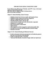 CHM 1045 EXAM 4 STUDY GUIDE
