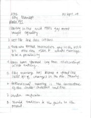 Gay Marriage Notes