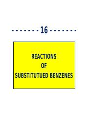 5PP - Ch 16 - Reactions of Substituted Benzenes - 70088