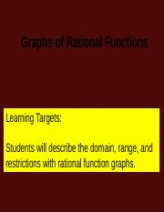 Graphing Rational Functions.ppt