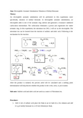 nitration of methyl benzoate lab report
