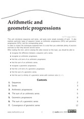 Arithmetic and Geometric Progressions