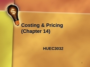 HUEC3032_Ch14_Costing_Pricing_note