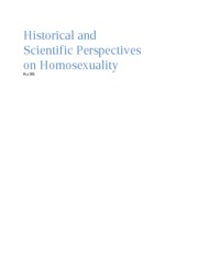 Historical and Scientific Perspectives on Homosexuality