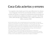 Coca Cola aciertos y errores power point