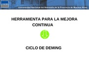 ciclo de deming, an+ílisis foda, just in time, Muda, Los 5 porque