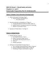 ISDS 351 Exam 1 Study Guide.docx
