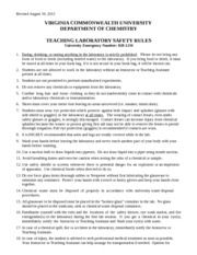 Teaching Lab Safety Rules revised 08 19 13