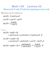 Lecture 22 on Precalculus