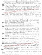 Past Papers 2015 Punjab University BSc Chemistry Paper A