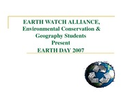 CCP PRESENTS Earth Day 07