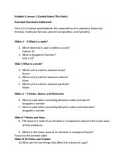 Honors Chemistry Module 5 Lesson 1 Guided Notes.doc
