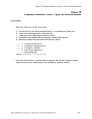 ACCT2102 Chapter 18 Practice Questions