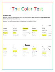 The Color Test Student Directions - Assignment (1)-2.docx