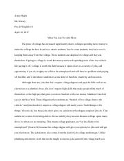 Synthesis Essay - Is College Worth It?.docx