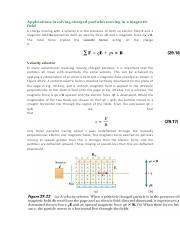 Applications involving charged particles moving in.pdf