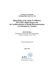 digital relics of the saints of affliction-hiv aids, digital images and the neoliberalization of hea