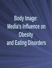 Body Image Eating and Eating Disorders - Spring 2016