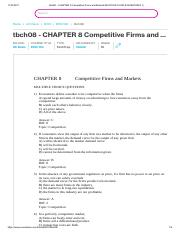 tbch08 - CHAPTER 8 Competitive Firms and Markets MULTIPLE CHOICE QUESTIONS 1)
