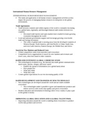 International Human Resource Management Notes