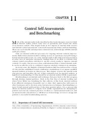 2-11_Control Self-Assessments and Benchmarking