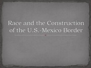 race and the border