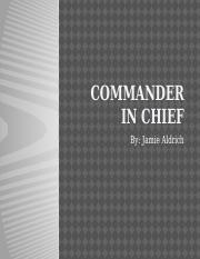 Commander in Chief Which