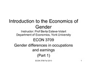 3. Gender Difference In Occupations and Earning Pt 1
