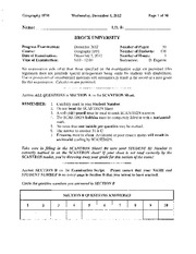 GEOG 1F91 DEC 2012 EXAM