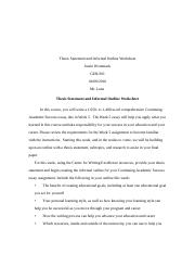 Thesis Statement and Informal Outline Worksheet.docx