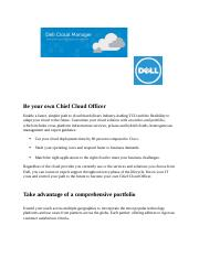 DELL cloud case study Be your own Chief Cloud Officer.docx