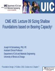CME 405 Lecturer 09 Sizing Shallow Footings based on Bearing Capacity 20170303.pptx