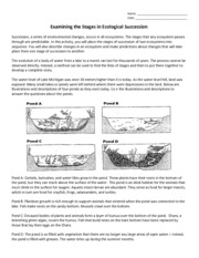 Ecological Succession Worksheet - Ecological Succession Worksheet Name