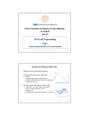 Ch3 Programming with MATLAB - Spring 2011