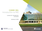 COMM 391 - All Lecture Slides