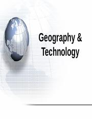 geography_technology