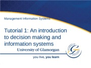 Tutorial 1 - Intro to decision making & ISs