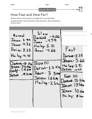 Ch 7 L 2- How Fast and How Far?