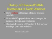 History of Human Wildlife Interactions (Moyle)