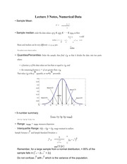 Lecture 3 Notes, Numerical Data