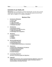 Chapter 13 Busines Plan Template(1)