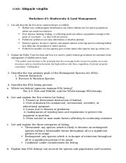 Worksheet 3 policy