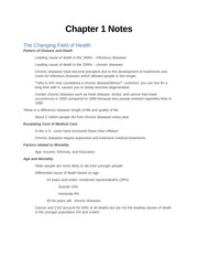 Health Psych Chapter 1 Notes