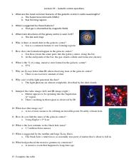 Lecture 29 – Galactic centre questions